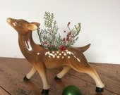 Vintage Deer Planter / Doe Planter / Spotted Deer
