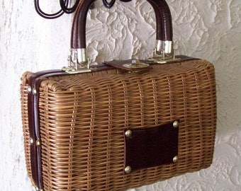 Something About It Summer Straw Purse No 2