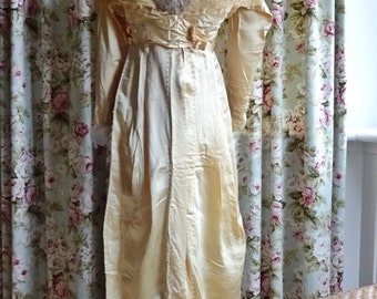 Antique Wedding Gown, Handmade Gown, 1900's Wedding Gown, Vintage Gown, Wedding Gown, Miss Havisham, Downton Abbey, Period Costume