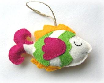 Tropical Fish Stuffed Felt Softie Pattern Sew Your Own Christmas tree ornament