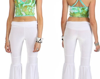 Hand Dyed Cropped Cami in Jungle Ice