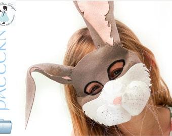 Bunny Rabbit Mask PATTERN.  Kids rabbit costume download.