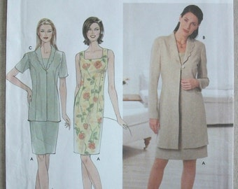 "Simplicity 9123-Sewing-Pattern-Apparel-Misses'/Miss Petite Dress and Jacket-Size UU-16-18-20-22-Bust 38"" through 44""-Uncut-FF-2000"