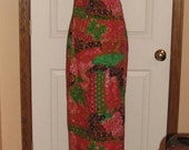 70's LAURA'S St. Clairsville Psychedelic PRINT Dress // Colorful BRIGHT Polyester Dress V Neck Cape Floral Flowers Size S Cut Out