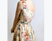 Floral dress ,Cotton Day dress,  Made to Order