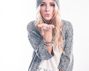 Grey Knitted Headband Ear Warmer Head wrap Winter Headband Chunky Headband Winter Trend Knit headwrap Accessories Womens gift Black Friday