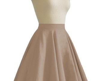 JULIETTE Mocha Rockabilly Swing Rock 'n Roll Skirt//Full Circle Mocha Skirt//Retro Mod 50s style Skirt//Party Skirt XXS-3X