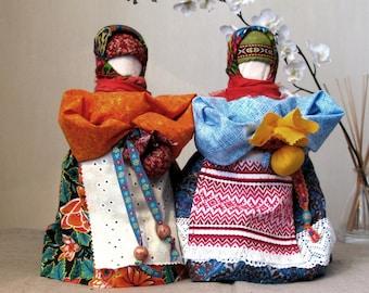 Traditional folk Slavic dolls