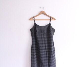 Minimal Plaid 90s Mini Dress