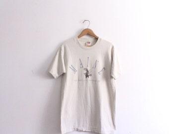 Maine Moose 90s T Shirt