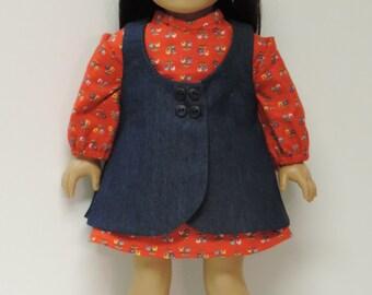 18 inch doll clothes dress, jumper