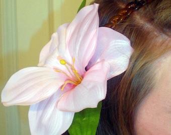 Pink Hibiscus Flower Headband