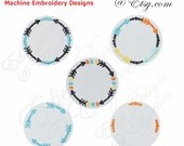 Circle Arrow Frames Machine Embroidery Designs Digital Download
