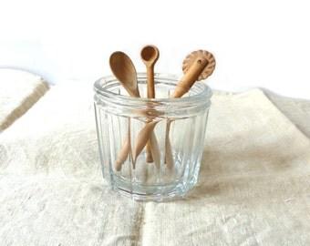 Antique Jam Jar Jelly Jar and Wooden Kitchen Utensils Kitchen Decor