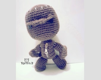 Little Big Planet - Angry Sackboy - Crochet doll - Handmade - FREE SHIPPING US