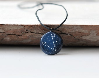Pisces pendant Jewelry Zodiac necklace March birthday gift February zodiac Personalized Astrology Horoscope Constellation Astrology Stars