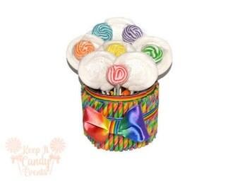 Custom Lollipop Candy Stick Lollipop Centerpiece, Rainbow Wedding Centerpiece, Rainbow Centerpiece, Candy Buffet, Rainbow Party decor