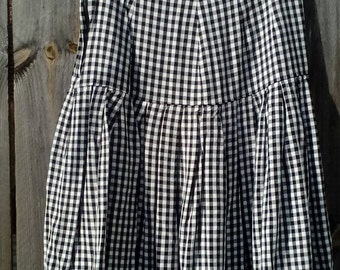 Vintage Black and White Gingham Skirt Size 2