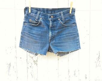 High Waist LEVIS Shorts 25 Waist Cut Off Denim Shorts