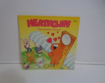 Official Heathcliff the Cat The Summer Carnival Retro 80's Colorful Childrens Book, Collectible Vintage Gift