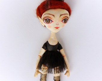 "Art Cloth Halloween Doll Vampire Doll 11"""