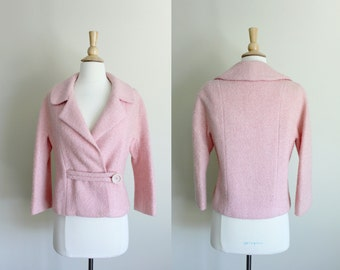 1960s Pink Wool Blazer // Small