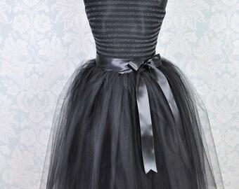 jupe tutu jupe tutu gris jupe tutu adulte mariage tutu. Black Bedroom Furniture Sets. Home Design Ideas
