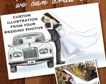 Custom Wedding Illustration - DIGITAL FILE