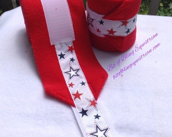 Patriotic Polo Wraps - set of 4