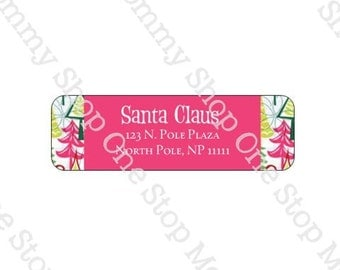140 Personalized  Christmas Address Labels ~ Peel and stick