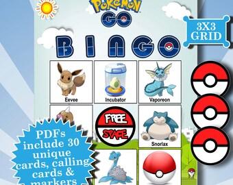 POKEMON GO 3x3 Bingo printable PDFs contain everything you need to play Bingo.