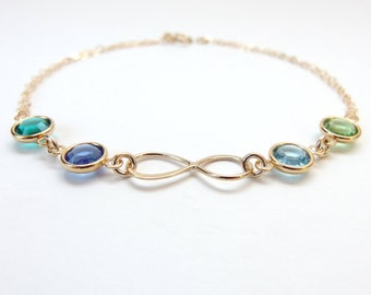Mother bracelet Infinity bracelet Family bracelet Grandma bracelet Birthstone bracelet Personalized bracelet Personalize birthstone bracelet