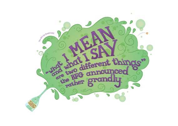Quotes From The Bfg: The BFG Quote Greeting Card Roald Dahl Blank