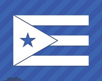 Puerto Rico Flag Vinyl Decal Sticker