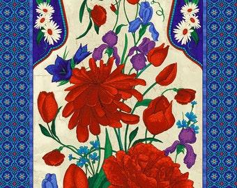 Mosaic Cream Panel by Chong-A Hwang for Timeless Treasures