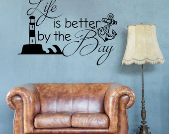 Lighthouse Decal Etsy - Wall decals beach quotes