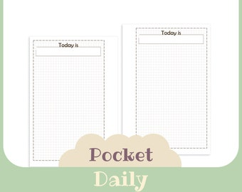 daily planner - Printable for pocket