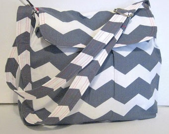 WOMEN'S MESSENGER BAGS, Chevron Bags, Cross Body Messenger Bag, Chevron Purse, Made To Order