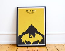 The Hobbit Minimalist Poster Print - LOTR - Minimalist Posters - Fellowship - Two Towers - Hobbit - Return of the King