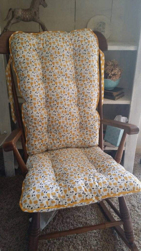 Custom Organic Sweet Autumn Day Rocking Chair Cushions Glider