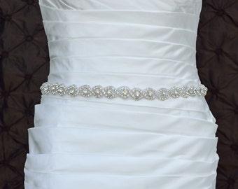 Wedding Sash Belt, Bridal Belt, Sash Belt, Crystal Rhinestone Belt, Wedding Dress Sash, Style 125