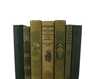 Brown Tan Vintage Books , Antique Book Bundle ,  Decorative Books , Wedding Prop , Photo Prop ,  Vintage Books , Old Books
