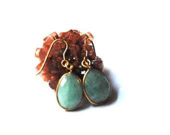Amazonite earrings, drop earrings, 14kt gold earrings, dangle amazonite earrings, amazonite earrings