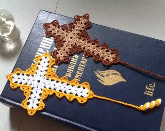 Bible Bookmark Crochet Cross bookmark Gift ideas for book lovers  Easter cross Bookmarks for books