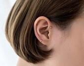 Tiny cartilage hoop, Sterling Silver cartilage hoop earrings, simple cartilage hoop, tragus earring, circle tragus hoop, gold cartilage hoop