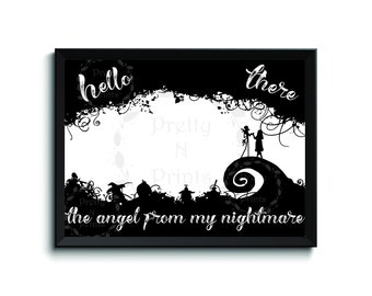 I Miss You - 4 x 6 - The Nightmare Before Christmas -Blink 182 I Miss You Lyrics - Jack Skellington - The Angel From My Nightmare