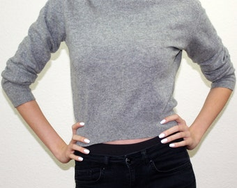 Soft Gray Cashmere Sweater