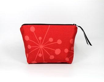 Red Starburst Zipper Pouch