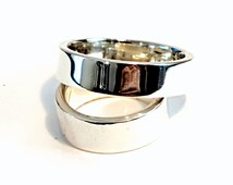 Silver Band Rings - Wedding Rings - Handmade Rings - Timeless Rings - Bridal Jewelry - Silver Jewelry - Venexia Jewelry