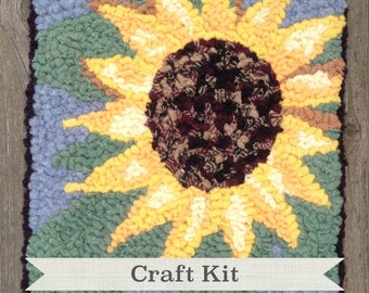Complete Beginner Rug Hooking Kit - THE SUNFLOWER